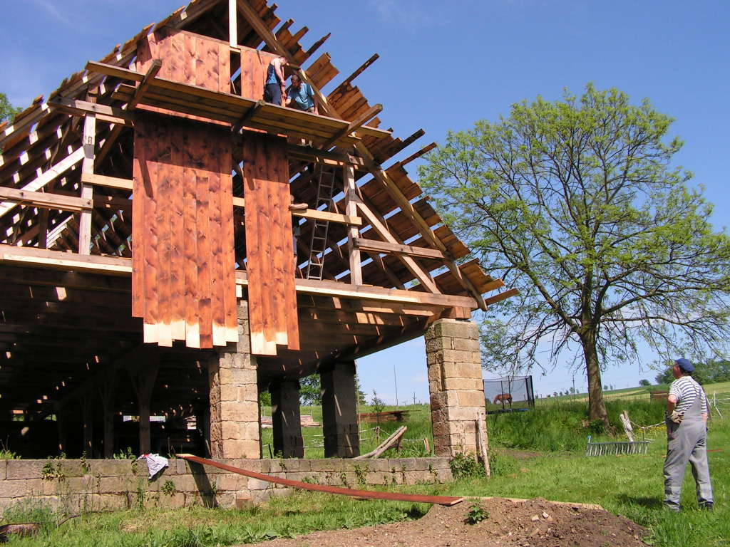 Stavba štítu